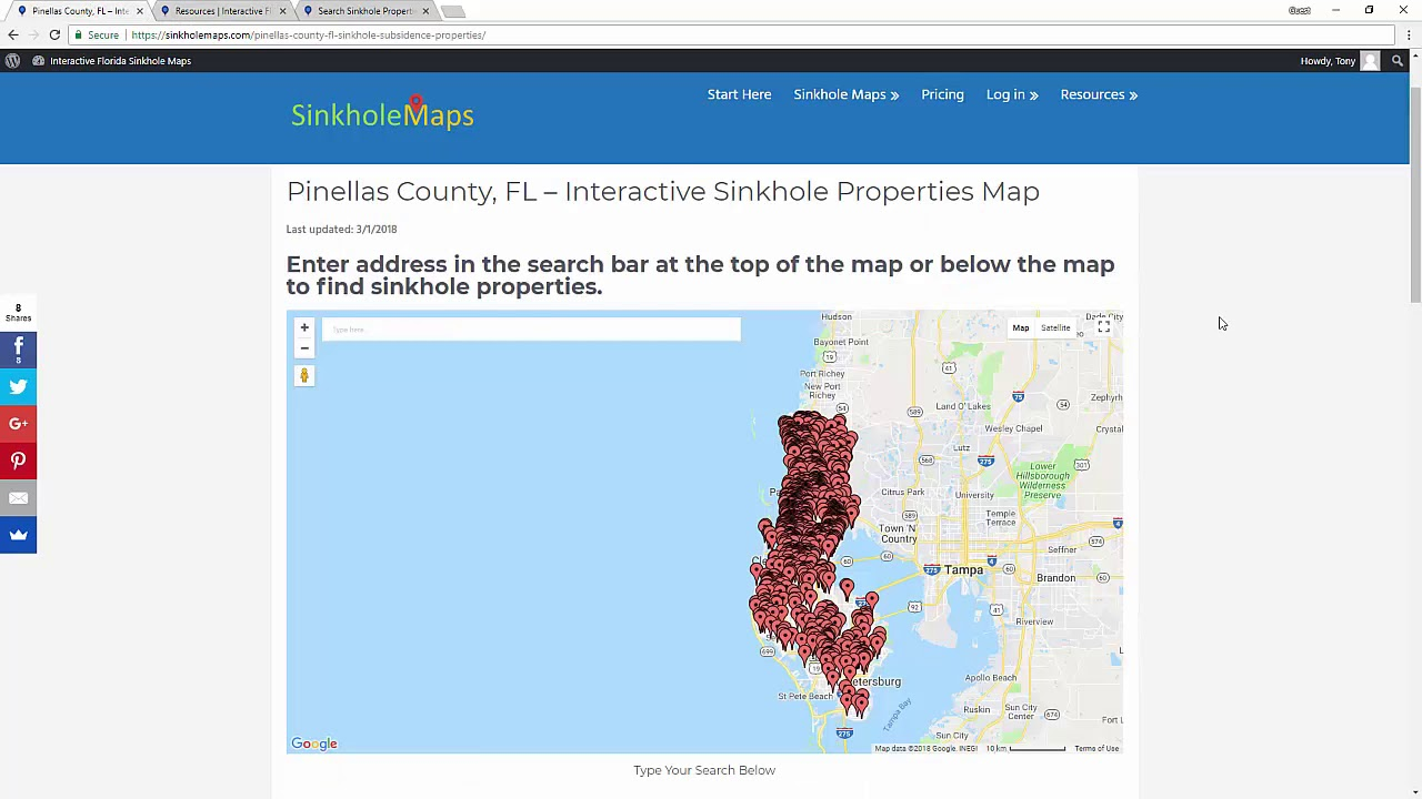 Sinkhole Maps for Home Buyers and Home Owners in Florida