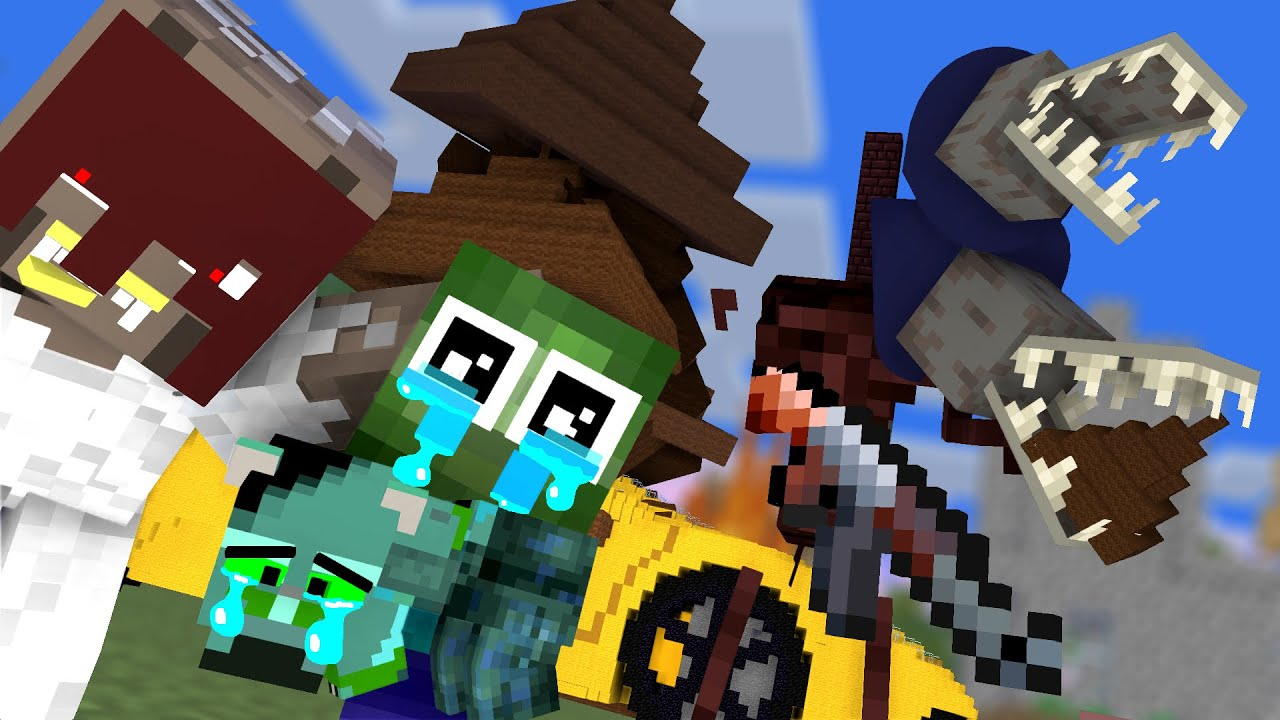 Monster School : Baby Zombie Boy and Bad Guys - Minecraft Animation