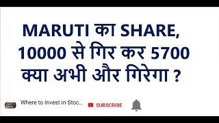 MARUTI का SHARE, 10000 से गिर कर 5700 | क्या अभी और गिरेगा ?