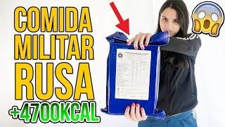 Probando COMIDA MILITAR RUSA para EMERGENCIAS (+4700Kcal)