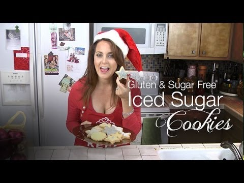 Gluten Free Sugar Free Iced Christmas Cookies Recipe - KimTV