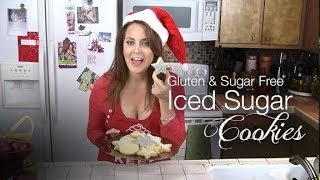 Gluten Free Sugar Free Iced Christmas Cookies Recipe - Kimtv