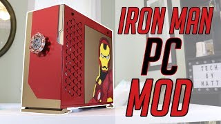My FIRST PC Case Mod Ever! - Iron Man PC Build - Techvengers 2018!