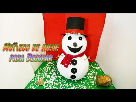 Manualidades faciles para navidad mu eco de nieve for Decoracion de navidad manualidades faciles