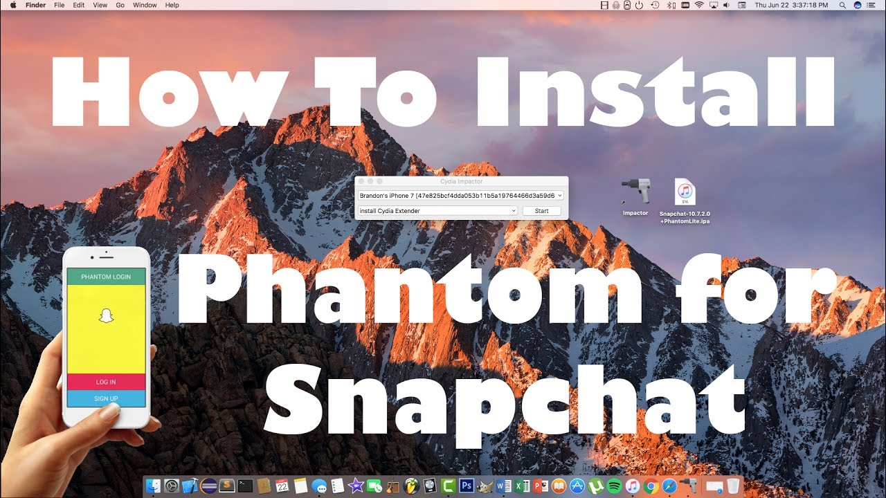 How To Install Phantom Snapchat Hacks On Ios 101032 Without A Jailbreak