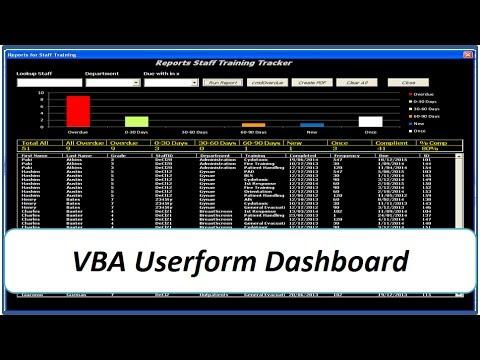 Dynamic Userform Dashboard Vba Excel