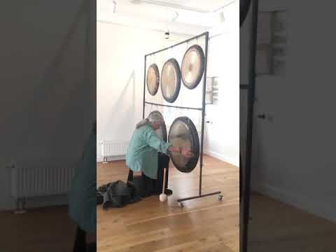 Gongland 90cm Universe Gong made for'Lone'by Rolf Nitsch foremost Mastergong maker in the West.