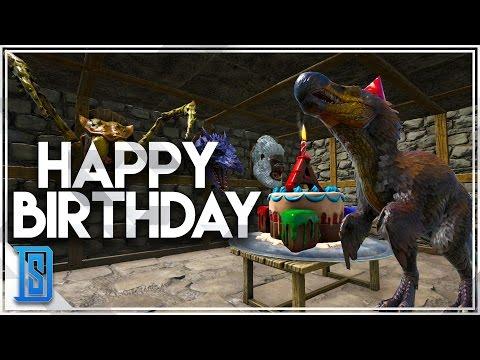 Ark Survival Evolved - ARK'S BIRTHDAY PARTY/BIRTHDAY DODO REX!