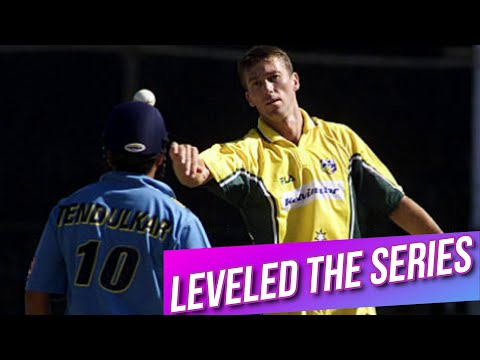 They Leveled The Series | India Vs Australia At Pune 2nd ODI 2001 Highlights