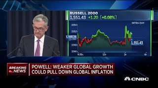Powell: Weaker global growth could pull down global inflation thumbnail