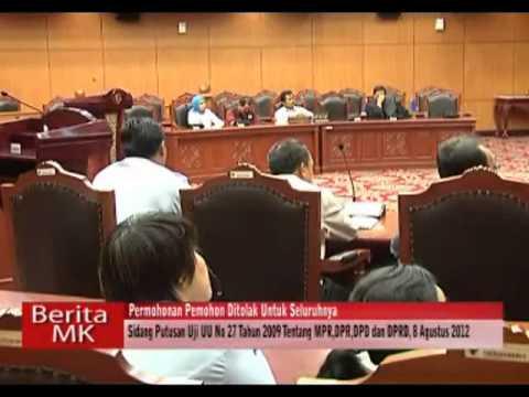 MK Nyatakan Konsusional Aturan Anggota Dewan Rangkap Jatan di BK