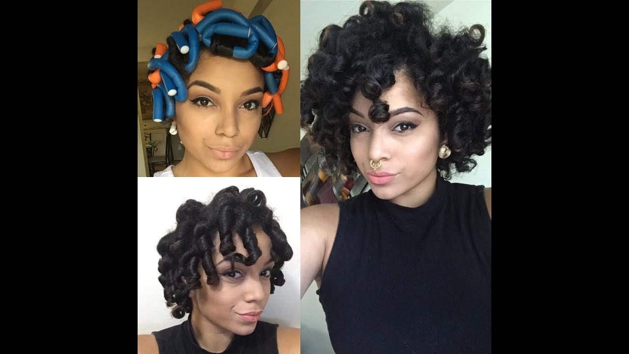 Flexi Rod Set Natural Hair Style Youtube