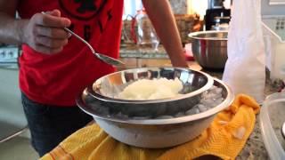"""How To Make Vanilla & Lime Ice Cream """"garrafa"""". Como Hacer Nieve De Vainilla Y De Limón De Garrafa"""
