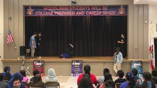 School Assembly Clip - Breaking B-boy & B-Girl Battle (Mpact vs Rascal Randi)