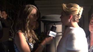2013 SI Swimsuit 3D Video at Caesars Palace, KATE UPTON pushes the button to start the video