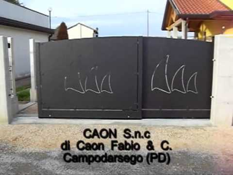 Cancello telescopico salvaspazio youtube for Cancello telescopico