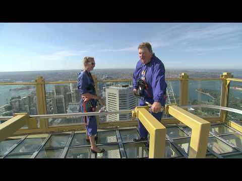 Coxy touches the sky on Sydney's Skywalk
