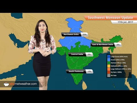 Monsoon Forecast for Jul 18, 2017: Monsoon rains inMumbai,Delhi, Odisha, Gujarat