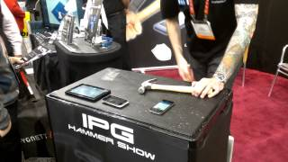 IPG Invisible Phone Guard Indestructible Phone Film at CES 2013