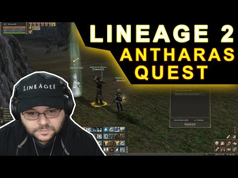 Lineage 2 - Antharas Quest (Audience with the Land Dragon) Gameplay PT-BR