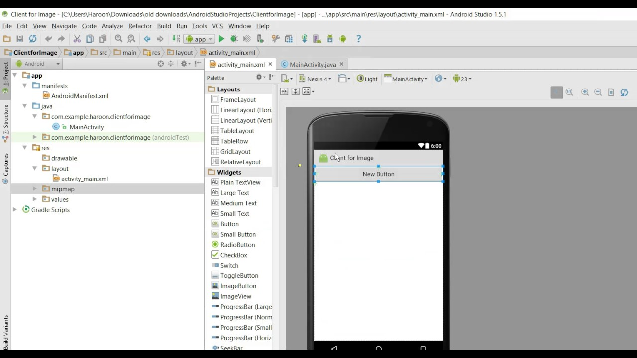 Send Image through TCP sockets Client Server in Android Studio (Socket  Programming)