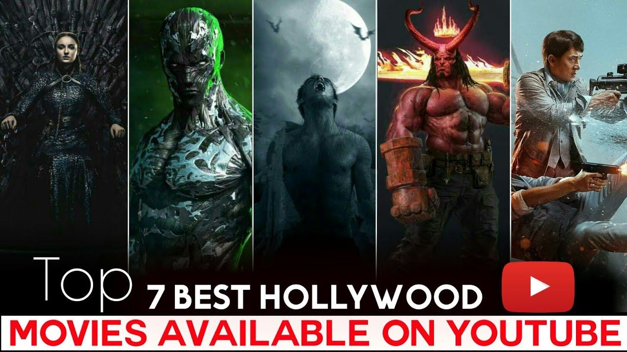 Download Top 7 Best Hollywood Movies Available on YouTube in Hindi | Action Adventure