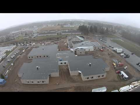 12-11-14: Aerial video of construction at Parnall Elementary School