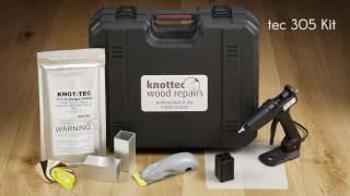 Servisní kufr pro opravu suků a vad dřeva TEC 305 KIT