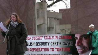 Mohamed Harkat - End Security Certificates Rally - END SECRET TRIALS IN CANADA