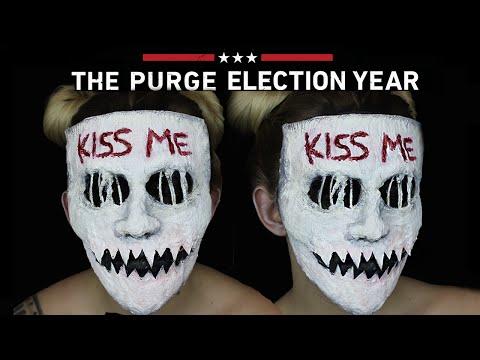 Kiss Me Purge Mask Halloween SFX Makeup Tutorial | THE PURGE MINI SERIES