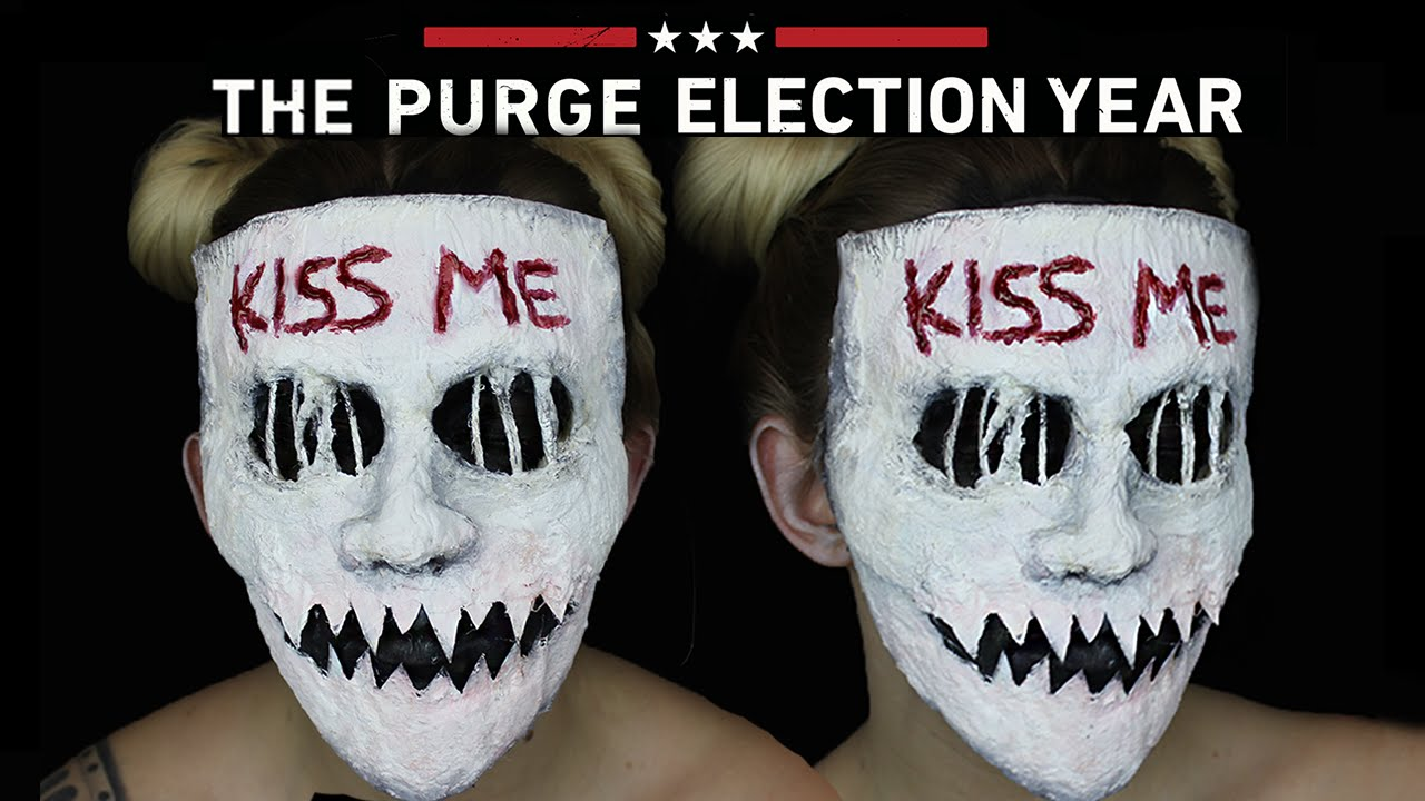 Kiss Me Purge Mask Halloween SFX Makeup Tutorial