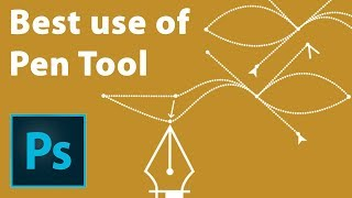 How to use pen tool - cut out photo - Photoshop tutorial in Hindi