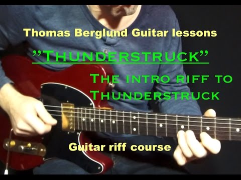 How to play the intro to Thunderstruck / Guitar riff / Guitar lesson