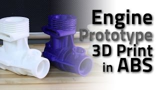 Engine Prototype 3D Print in ABS