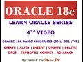 ORACLE TUTORIALS 4: INSERT, UPDATE, DELETE, CREATE, ALTER, DROP, TRUNCATE, COMMIT AND ROLLBACK