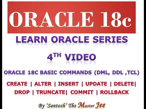 ORACLE SESSION 4: INSERT, UPDATE, DELETE, CREATE, ALTER