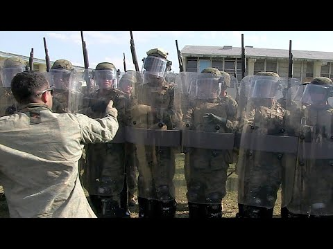U.S. Marines Riot Control Techniques Training