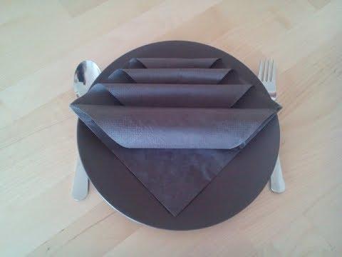 servietten falten einfach und schnell f r feiern und hochzeiten youtube. Black Bedroom Furniture Sets. Home Design Ideas