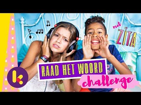 Raad het woord-challenge met Zita