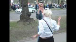 2 drunk russian girls dancing in 9th may