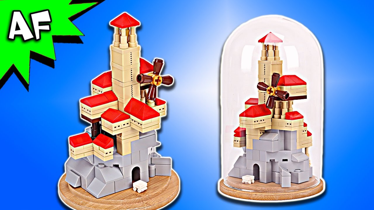 Custom Lego Windmill Castle In A Glass Dome Moc Speed