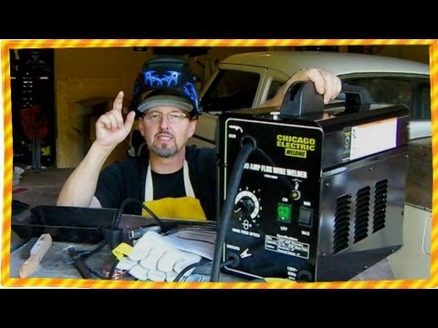 harbor freight welder 90 amp flux core youtube. Black Bedroom Furniture Sets. Home Design Ideas