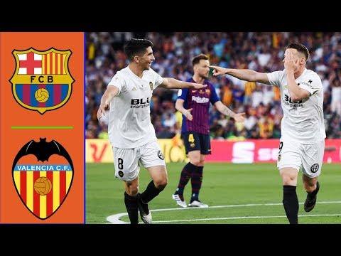 Barcelona vs Valencia 1-2 Resumen y Goles - Copa del Rey 2019