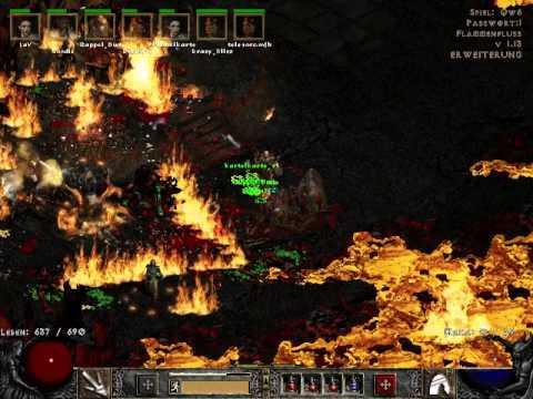 Diablo 2 speedrun to Baal Hell in under 2:30 - barb view by mfb