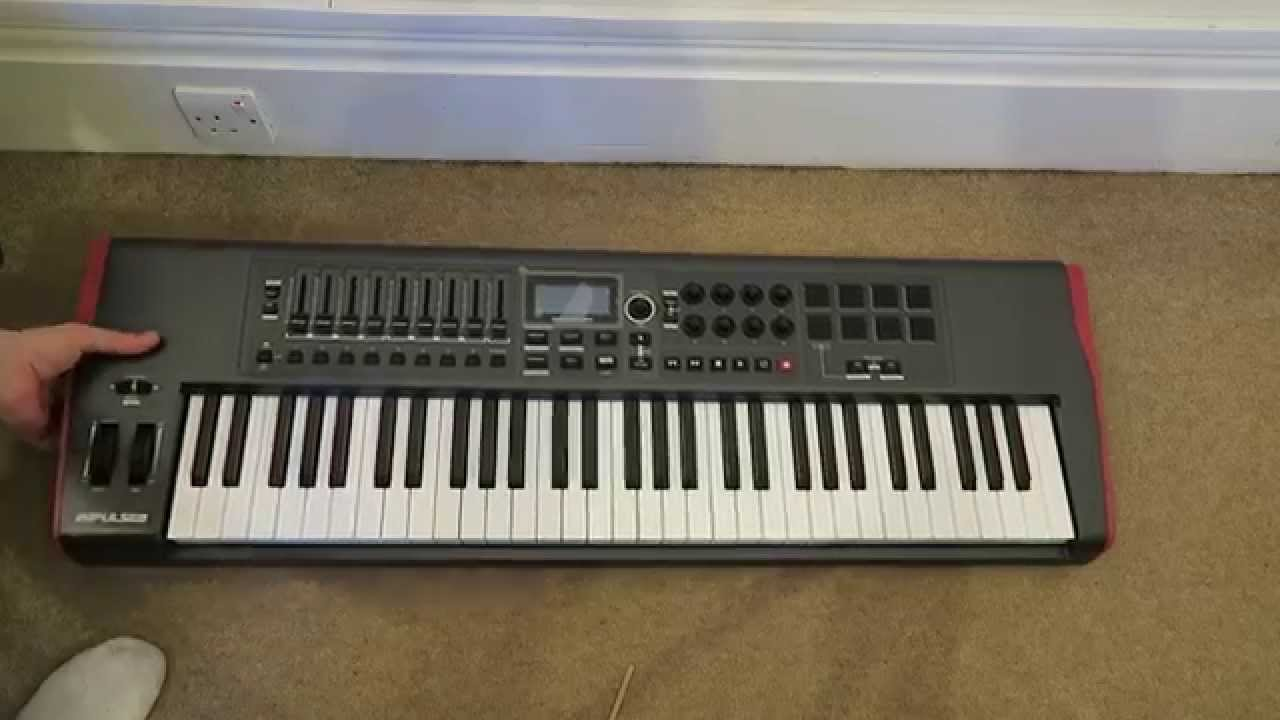 novation impulse usb midi controller keyboard 61 keys unboxing youtube. Black Bedroom Furniture Sets. Home Design Ideas
