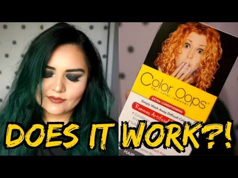 Does It Work Color Oops Hair Dye Remover Youtube