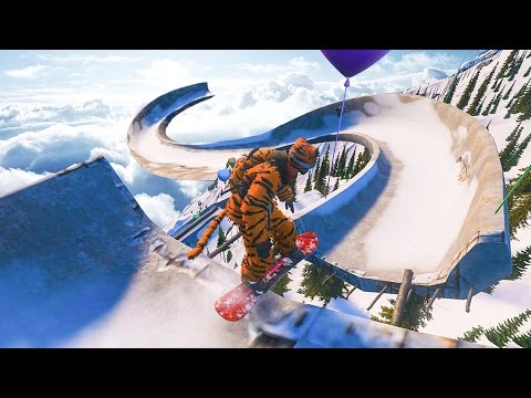 Thumbnail: SNOWBOARDING A BOBSLED TRACK! - STEEP GAMEPLAY