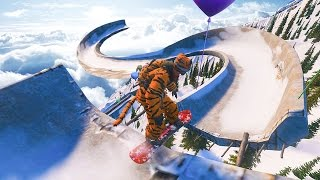 SNOWBOARDING A BOBSLED TRACK! - STEEP GAMEPLAY