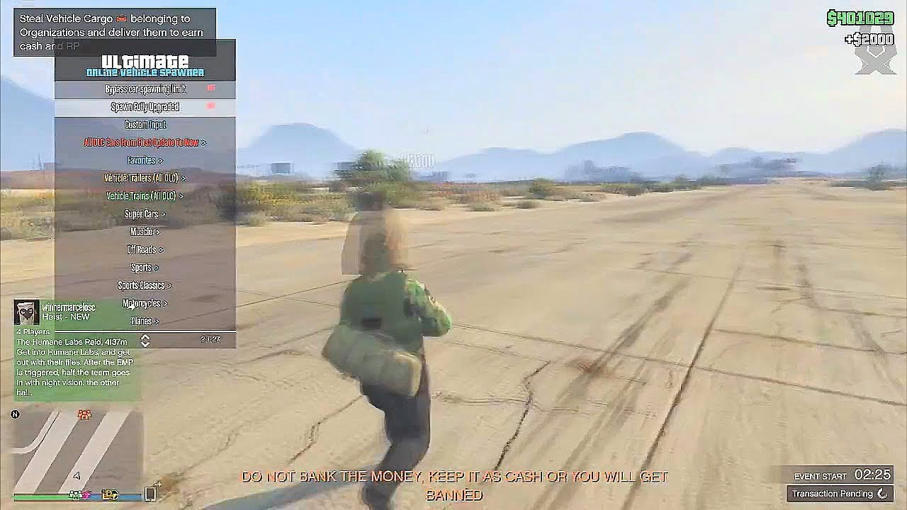 [NEW] GTA 5 ONLINE PC BEST UNDETECTED MOD MENU 1 40 - HYDROGEN! (Money & RP  Hack)
