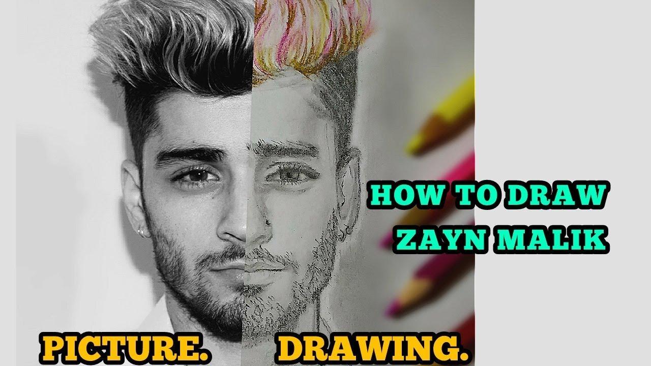 How to draw zayn malik step by step very easily pencil work